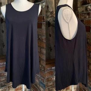 Alfani tank top navy blue stretch blouse shirt XL